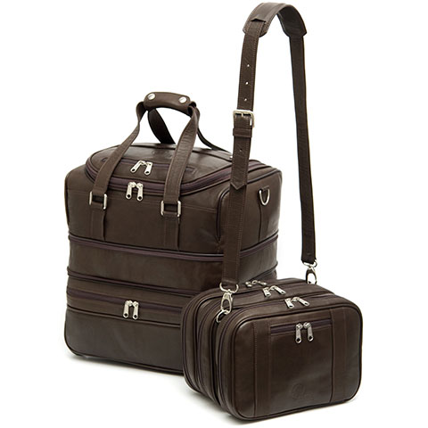 Roble handmade leather carryon luggage